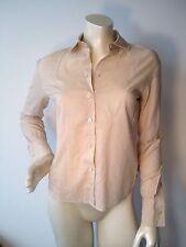Burberry beige womens 100% cotton long sleeve dress shirt Sz S
