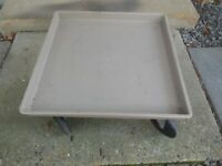 Traex Model 1697 Beige Glass Rack Dolly without Handles EUC