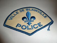 LAW ENFORCEMENT PATCH POLICE VILLE DE BLAINVILLE  QUEBEC POLICE