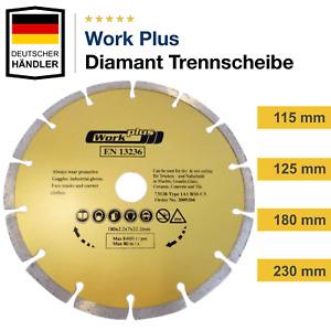 Diamanttrennscheibe Segment Diamantscheibe 115 125 180 230 Beton Stahl Pflaster
