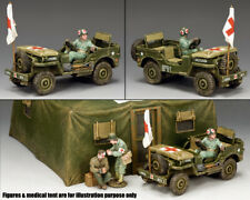 KING & COUNTRY D DAY DD293 U.S. ARMY MEDICS JEEP MIB