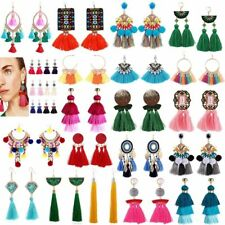 Fashion Jewelry Women Bohemian Long Fringe Boho Dangle Tassel Ear Stud Earrings