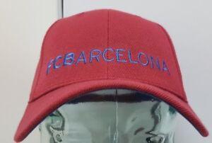 FC Barcelona Burgundy Curved Brim Adjustable Hat