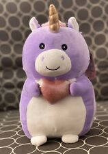 "NWT Squishmallow 9.5"" Purple Unicorn Hug Mee Valentines 2020 Kellytoy NEW Plush"