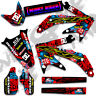 2000 2001 HONDA CR 125 250 R DIRT BIKE GRAPHICS KIT NIGHT RIDER : RED / CYAN