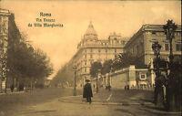 Roma Rom Italien AK ~1920 Via Veneto da Villa Margherita Straßenpartie Polizist