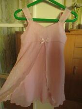 Ladybird Mädchen Glitzer Kleid Rosa 2-3 Jahre 92/98 wie Next Hängerchen Silber