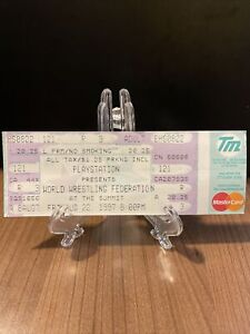 World Wrestling Federation WWF Ticket Unused Vintage Aug 22 1997 The Summit