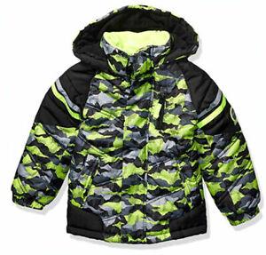 London Fog Boys Green Camo Outerwear Coat Size 4 5/6 7
