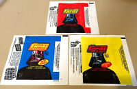 Star Wars Empire (ESB S1,2,3) - 3x Wax Pack Card Wrapper SET - 1980 - NO TEARS !