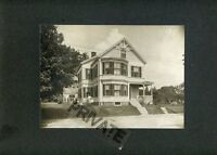 Matted Historic Photo-Lg 3 Story Victorian Home-4 Persons & Dog in Front 10x12