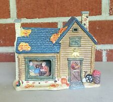 AUTUMN ACCENTS HARVEST PORCELAIN LIGHTED HOUSE COLLECTIBLE HOME DECOR FIGURINE
