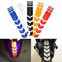 Car Motorcycle Reflective Arrow Stickers Rim Stripe Wheel On Fender Tape Decor~