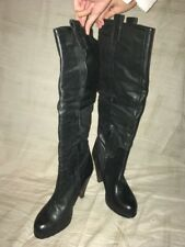 The Cool People Black Leather Knee High Boots, Women's Shoes, Size 10M