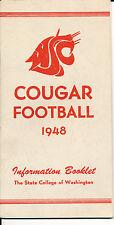 1948 Washington State Cougar College Football Press media Guide      bx cg2