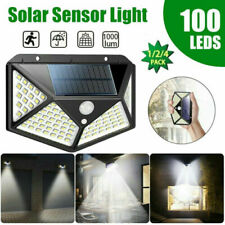 100 LEDs Waterproof Solar Power PIR Motion Sensor Wall Light Outdoor Garden Lamp