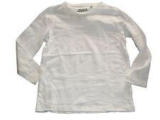 C & A tolles Langarm Shirt Gr. 116 einfarbig weiß !!
