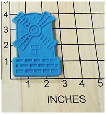 Vintage Windmill Shaped Fondant Cookie Cutter and Stamp Classic Design #1130