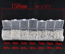 2 x 1500 Silver Plated Jump Rings & Box 3000 Open Metal jumprings 3 4 5 6 7 8mm