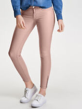 Women Skinny Ankle Rose Pink Stretch Jeans Normal Waist Size 8UK 50%Off RP£35