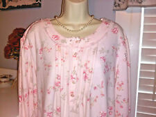 NWT 2X Miss Elaine Nightgown Gown NEW SOFT & WARM Cozy  PINK Floral LONG Woman