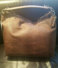 POON Handbag Leather Brown Anaconda Embossed Leather - REDUCED CLEARANCE!!