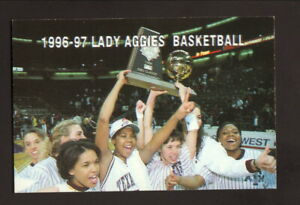 Texas A&M Aggies--1996-97 Basketball Schedule--Taco Bell