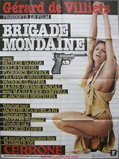 BRIGADE MONDAINE Affiche Cinéma / Movie Poster CERRONE