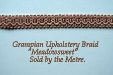 "Pink & Gold Upholstery Braid ""Grampian Meadowsweet"" 18mm (sold by the Metre)"