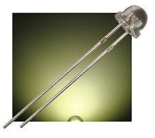 100 x 5mm LED warmweiß warm weiss 120° 2000mcd Kurzkopf