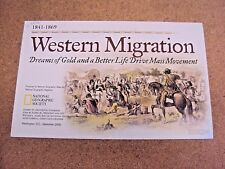 National Geographic September 2000 Wall Map US Western Migration + Pathfinders
