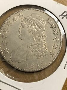 Estate Find 1818 - Capped Bust Half Dollar!!  AU Almost Uncirculated
