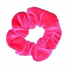 Neon Pink Velvet Scrunchie Ponytail Holder Hair Accessories Made in the USA