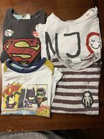 Pre-Owned Lot Of Four Zara Baby Boys Toddler Long Sleeved T-Shirts 2-3 Years