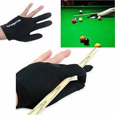 Black Spandex Snooker Billiard Cue Glove Left Hand Three Fingers Dropshippin