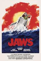 1975 Jaws Alternative Movie Poster > Print > Great White Shark > Amity Island 🦈