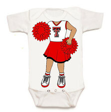 Texas Tech Red Raiders Heads Up! Cheerleader Baby Bodysuit