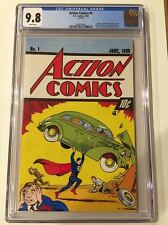 ACTION COMICS #1 FIRST SUPERMAN CGC 9.8 RARE 10-CENT 54TH ANNIV REPRINT 1992