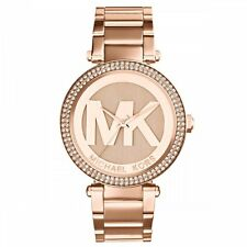 NEW MICHAEL KORS MK5865 LADIES ROSE GOLD PARKER WATCH - 2 YEAR WARRANTY