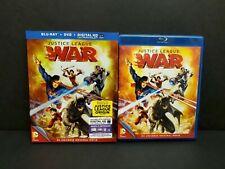 Justice League War (Blu-ray, Dvd, Digital) w/ Oop Rare Slipcover. Dc