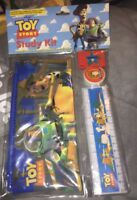 Disney Toy Story WoodyStudy Kit- Red Eraser, Pencil Pouch, Sharpener, Rare