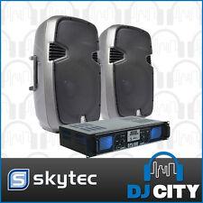 Skytec SPJ1200 12-Inch PA Speaker Package with SPL 1000 watt Amplifier USB, S...