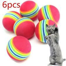 6pcs Pet Cat Kitten Soft Foam Rainbow Play Balls Colorful Funny Activity Toys B7