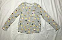 Girls Christmas Emoji Long Sleeve Shirt Size 12 NWOT