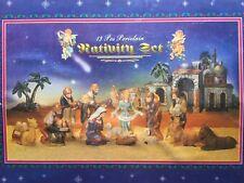 VINTAGE 13 PIECE PORCELAIN CHRISTMAS NATIVITY SET IN BOX 1