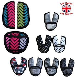 Baby Car Seat and Pushchair Belts Crotch Cover Harness Straps Pads Designs 3pcs