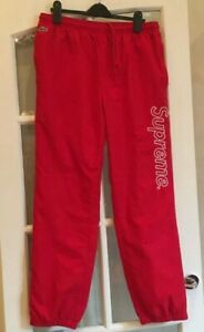 SS17 Supreme x Lacoste track pant red Size M medium pants trousers