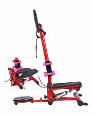 Air Stair Climber Twist Stepper Fitness Exercise Stair Machine Handle Bar Steel