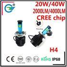 80W 8000LM CREE CHIPS H4 LED CAR LED BULB H13 9004 9007 car led headlight BULB