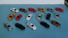 N Scale-Model Railroad Vehicles-Mixed Styles in 7 New Colors--16 Cars per Set-B